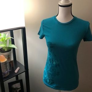The North Face Blue Design Short Sleeve Shirt